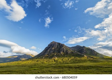 World famous Glencoe in the highlands of Scotland in summer.