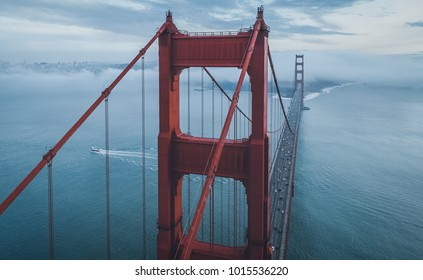 World Famous Golden Gate Bridge. San Francisco, California.