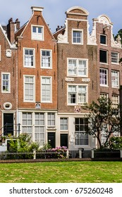 World famous historic Begijnhof is one of the oldest inner courts in the city of Amsterdam. Begijnhof was founded during the middle Ages. Netherlands.