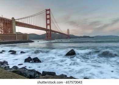 World Famous landmark of the world, Golden Gate Bridge