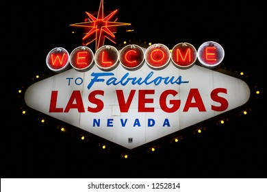 World Famous Las Vegas Sign, Las Vegas, Nevada, USA