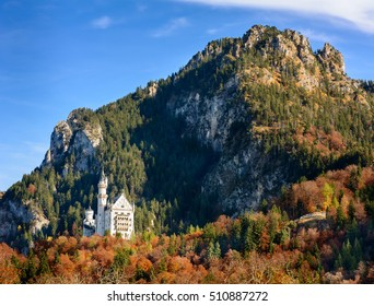 World famous Neuschwanstein Castle (Schloss)