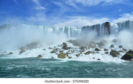 The world famous Niagara Falls. The power of tons of falling water