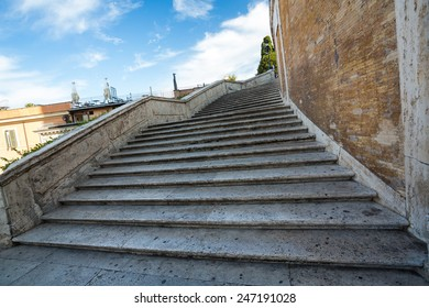 The world famous Spanish Steps in Rome, Italy