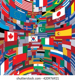 World Flags Background. Ready for Your Text and Design.