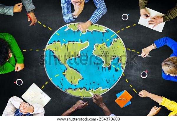 Weltweite Ökologie Internationales Meeting Unity Learning Konzept