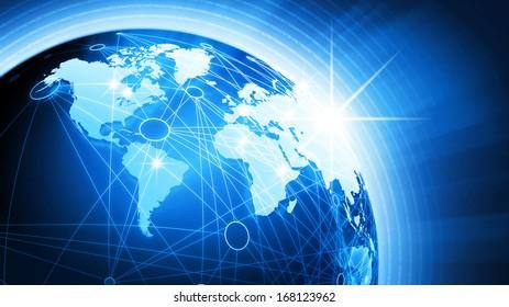 World Globe Background Concept