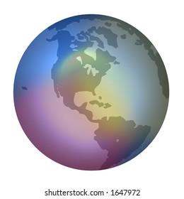 World Globe Gel Effect