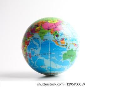 World globe isolated on white. Globalization Concept