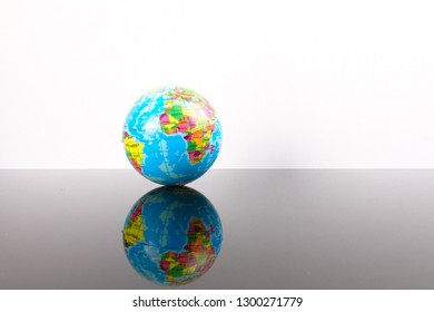 World globe with reflection. Globalization Concept