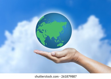 World in hand.