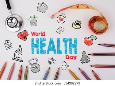 World Health Day Concept Healty Lifestyle Background