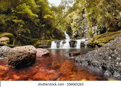 world heritage area lamington national park gondwana land elabana falls in the gold coast hinterland nsw border ranges region