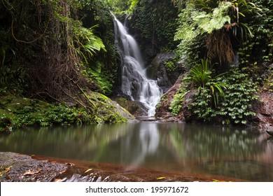 World heritage area Lamington National Park. Elabana falls in the gold coast hinterlands on the nsw border.