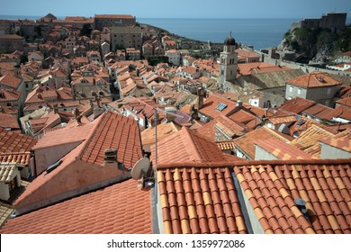 World heritage city Dubrovnik colorful roof