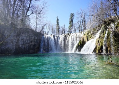 World heritage national park Plitvice and water fall