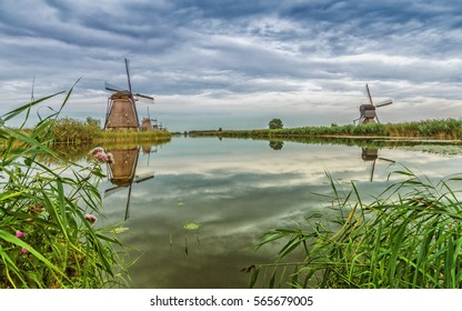 The world heritage site in the Netherlands. The mills were used to drain the area and create new land.