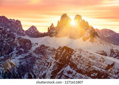 "World Heritage ""Tre Cime di Lavaredo"" in South Tyrol, Italy"