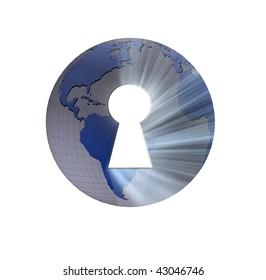 world keyhole