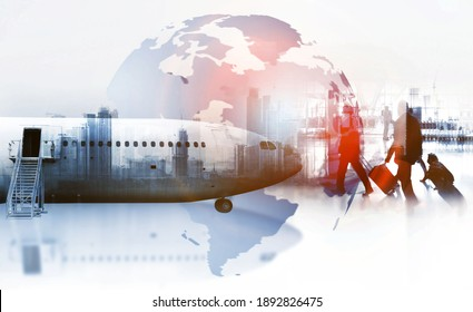 The world logistics ,logistic network distribution on background and Logistics Industrial Container Cargo freight ship for Concept of fast or instant shipping