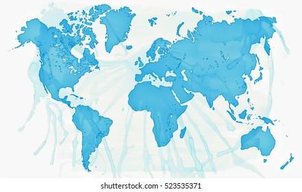 World map asia center vector de stock299173718 shutterstock world map gumiabroncs Images