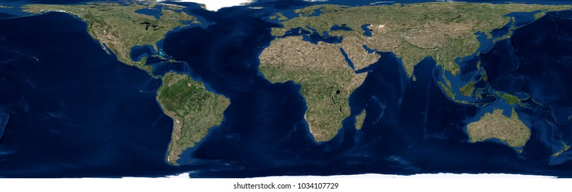 World Map (3D rendering)