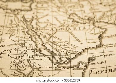 World map of the antique. Arabian Peninsula.