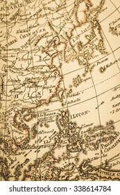 World map of the antique. Asia.