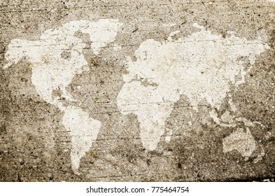 World map dots stock photos images photography shutterstock world map drawn on wall gumiabroncs Gallery