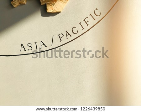 World Map Focus Asia Pacific Thailand Stock Photo (Edit Now ...