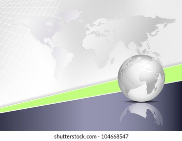 World map and globe - abstract global business background