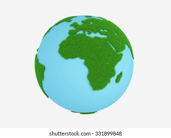 World Map with Grass