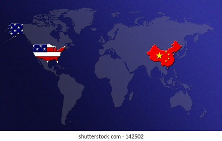 map of us and china China Us Map Images Stock Photos Vectors Shutterstock map of us and china
