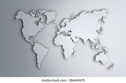 World Map. Image with clipping path Elements of this image furnished by NASA