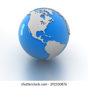 World Map , isolated on white.