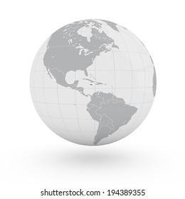 World Map Jamaica America