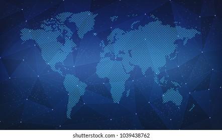 World Map Link Digital Backgrounds