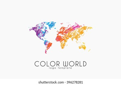 World map logo world logo color vector de stock393695914 shutterstock world map logo world logo color world creative logo travel logo design gumiabroncs Choice Image