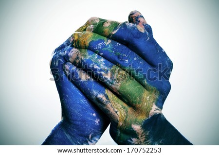 World Map On Hands.World Map Man Hands Forming Globe Stock Photo Edit Now 170752253