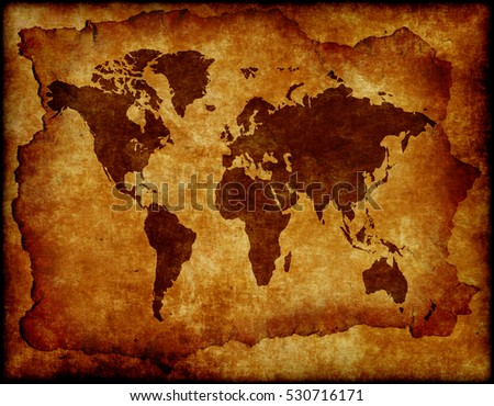 World Map Old Style.World Map Old Style Brown Graphics Stock Photo Edit Now 530716171