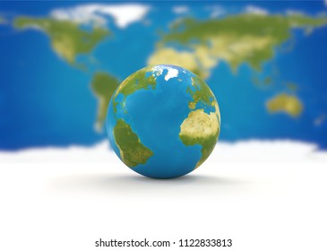 world map planet earth globe 3d-illustration