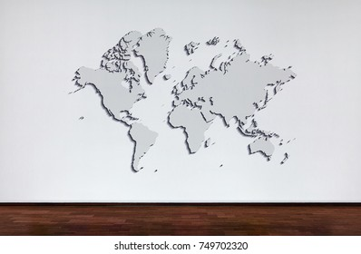 Flat world map stock photos images photography shutterstock world map popular world map template cover annual reports flat earth gumiabroncs Gallery