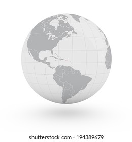 World Map Puerto Rico America