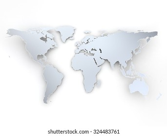 world map silver texture with shadow