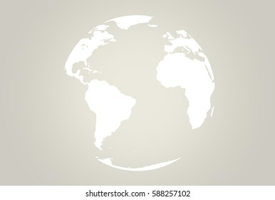 world map sphere flat 3d render. Elements of this image furnished by NASA.