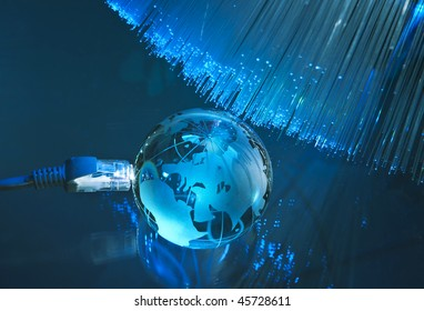 world map technology style against fiber optic background more in my portfolio