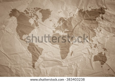 World map vintage pattern background color stock photo edit now world map vintage pattern for background in color tonenatural recycled paper texturenatural gumiabroncs Choice Image