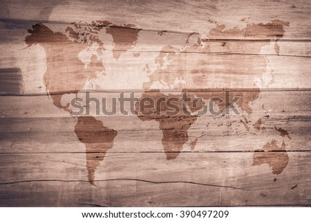 World Map Vintage Pattern Background Color Stock Photo (Edit Now ...