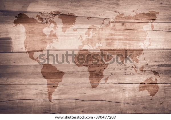 World Map Vintage Pattern Background Color Stock Photo (Edit ...