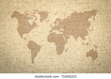Fabric map old world images stock photos vectors shutterstock world map vintage pattern on fabric wallpaper or artistic wall texture background gumiabroncs Gallery